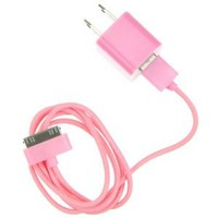 Amazon.com: EarlyBirdSavings Wall Charger + 0.9M 3Ft Data Sync Cable Cord Pink for iPod Touch iPhone 3GS 4 4S: Cell Phones & Accessories