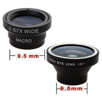 Patuoxun 3 in 1 180 Degeers Fisheye , Wide Angle , Micro Macro Lens photo Kit for iPhone5S iPhone5C iPhone 4 4G 4S HTC