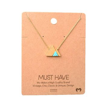 Must Have-Natural Stone Necklace, Turquoise
