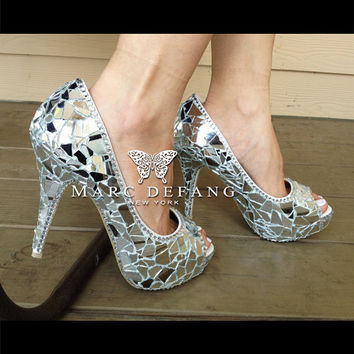 the MIRROR peep toe platforms