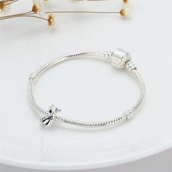 Clear Crystal Spacer Beads fit Pandora Bracelet Diy Zircon Infinity Love Charms for Women Big Hole Micro Pave CZ European Beads
