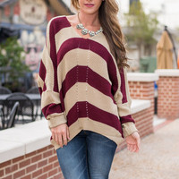 All Up To You Sweater, Burgundy