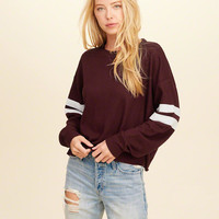 Girls Must-Have Oversized Waffle T-Shirt | Girls Tops | HollisterCo.com