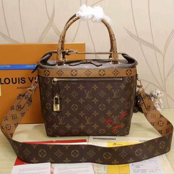 LV Women Shopping Leather Handbag Tote Satchel Shoulder Bag