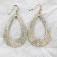 Leather Open Oval Earring - Other Colors Available