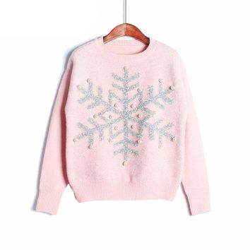 Winter Sweater Women Pullover Candy Color-Christmas Sweater