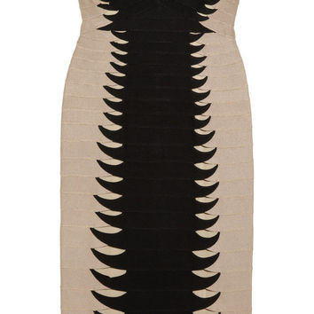 Hervé Léger | Strapless twisted-cutout bandage dress | NET-A-PORTER.COM