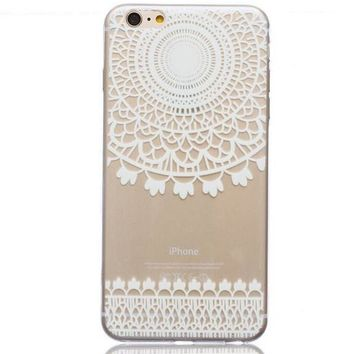 Ultrathin Transparent Boho Lace iPhone 5se 5s 6 6s Case Originality Cover Gift-170928
