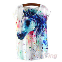 New Fashion Vintage Spring Summer T Shirt Women Clothing Tops  graphics Print T-shirt for Woman Clothes