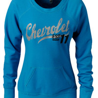 Chevrolet Ladies Script Crew Sweatshirt-Chevy Mall