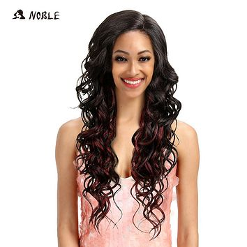 Noble Wigs For Black Women Loose Wave Lace Front Wigs Synthetic Hair 30 Inch Ombre Color Heat Resistant Wig Free Shipping