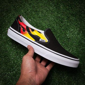 LMFONS Vans x Thrasher SLIP-ON PRO Flats Shoes Sneakers Sport Shoes