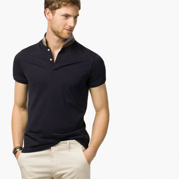 PLAIN POLO SHIRT WITH MAO COLLAR - New - MEN - United States - Massimo Dutti