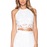 Miguelina Mari Top in Pure White