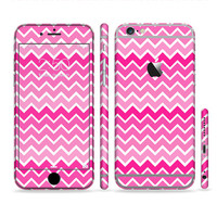 The Pink & White Ombre Chevron V2 Pattern Sectioned Skin for Most Mobile Devices (Choose your device)