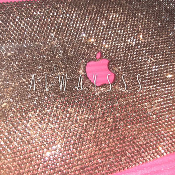 ROSE GOLD Laptop Cases Crystal  Rhinestone Bling Case Personalized Handmade Strass Macbook Case 100%Swarovski Crystals 001 ROGL