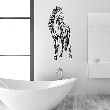 Horse with Saddle Wall Decal Sticker