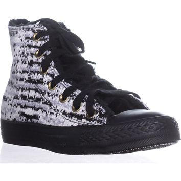 Converse Chuck Taylor All Star Knit High-Top Sneakers, Dolphin/Egret/Black, 6 US / 36.5 EU