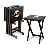 San Francisco Giants MLB TV Tray Set with Rack