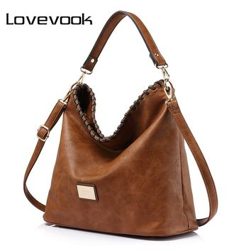 LOVEVOOK women large capacity women shoulder bag female casual tote hobos handbag famous brands high quality messenger bags