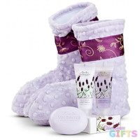 Relaxation Booties with Lavender-Booties with Spa Kit (Shown)