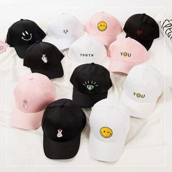 ESBG8W korean Female baseball cap harajuku hats summer pink Dad Hat white polo caps 2017 girls youth caps baseball hats for women style