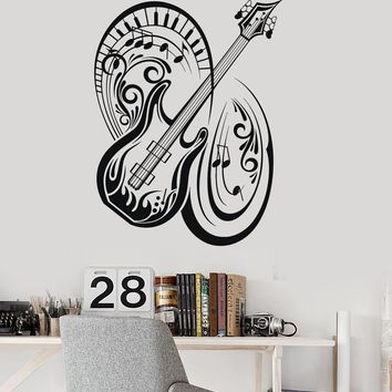 Wall Vinyl Decal Music Guitar Musical Instrument Notes Stickers Mural Unique Gift (ig3120)