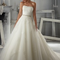 Blu by Mori Lee 5263 Lace and Tulle Wedding Dress
