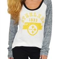 Pittsburgh Steelers Wideneck Raglan | SportyThreads.com