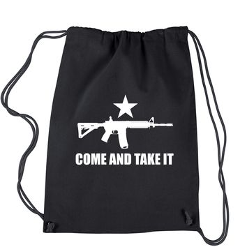 Come And Take It 2nd Amendment Gun Rights Drawstring Backpack