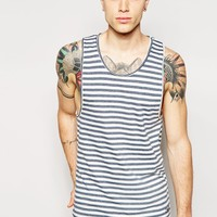 Jack & Jones Long Line Stripe Vest at asos.com