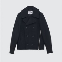 Zip Double Breasted Bomber