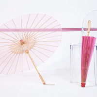 BRELLI Medium Pink UV Proof Umbrellas | Handcrafted, Eco-Style Sun Parasols
