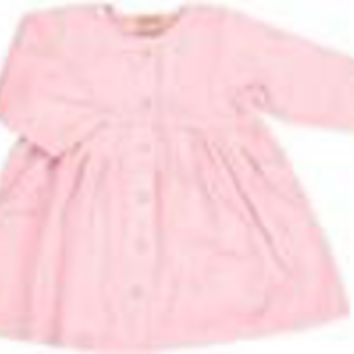 Pink Velour Baby Long Sleeve Dress