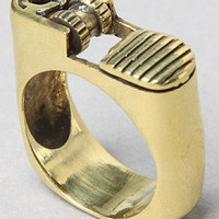 The Lighter Ring in Brass