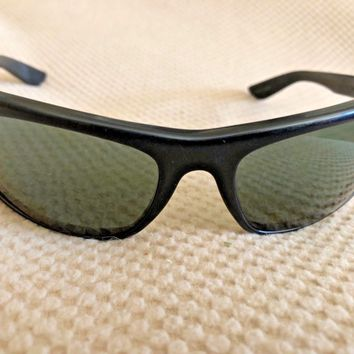 CIRCA 1970's B&L RAY BAN L2870 G15 BLACK EBONY BALORAMA WRAP SUNGLASSES AWESOME!