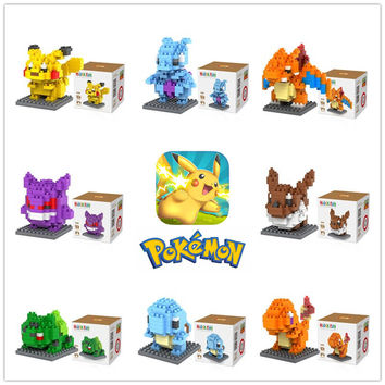 LOZ Star Wars Avengers Super Hero Pokemon Miniature 3D Building Blocks Super Mario Bros Minifigures Toy Bricks for Gift with Box