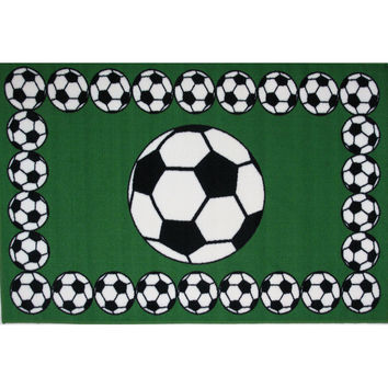 Fun Rugs Fun Time Collection Soccer Time Area Rug