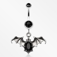 Bat Sparkle Belly Ring