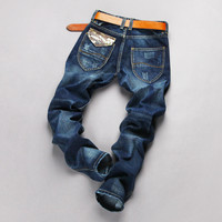 Men's Fashion Stylish Slim Pants Jeans [6527212995]