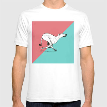 Run Greyhound! T-shirt by Claudio Nozza Art