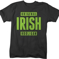 Shirts By Sarah Men's Funny St. Patrick's Day T-Shirt Original Irish Hooligan Shirts