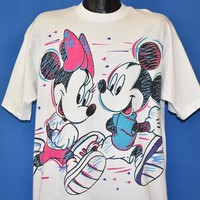 80s Minnie and Mickey Mouse t-shirt Extra Large