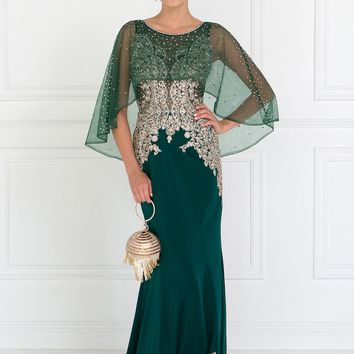 long evening gown with sleeves  gls 1595