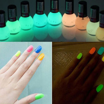 12 Colors 8ml Fluorescent Neon Nail Art Polish Varnish = 1945888324