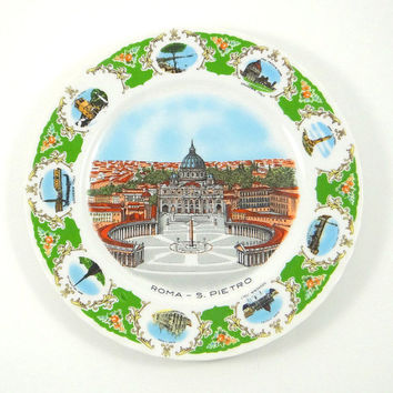Vintage Rome Souvenir Plate made by Kronester of Bavaria