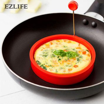 EZLIFE 4 Styles Fried Egg Mold Silicone Forms Non-stick Simple Operation Pancake Maker Omelette Round Mold Kitchen Gadgets