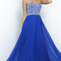Beaded Strapless Prom Dress by Blush 10003