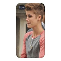 Justin Bieber Phone Case iPhone 4 Covers from Zazzle.com