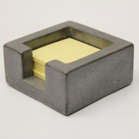 Concrete Post-It Note Holder -  Dark Grey